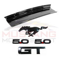 Genuine 2015-19 5.0L V8 Rear Decklid Panel & Black Badges Package